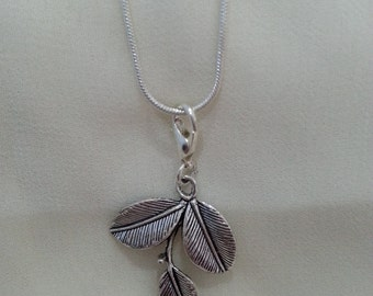 Tibetan Silver Leaf Necklace