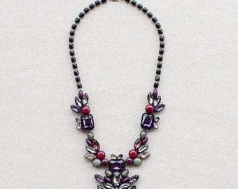 Violet Cellulose Acetate Necklace