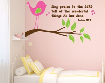 Sing praise to the Lord - wall decal