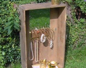 Mirror with chain holder - Upcycling