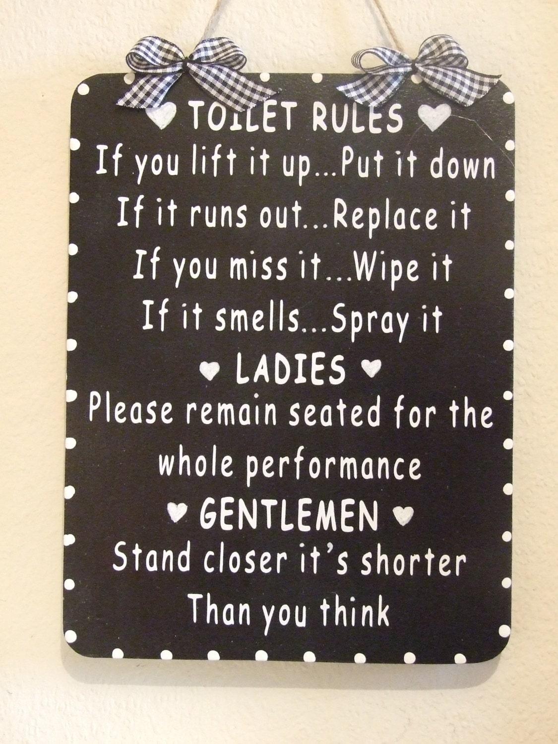 toilet rules | etsy