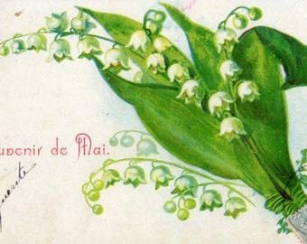French antique postcards flower 25  Ephemera for scrapbook, collage, decoupage, craft,digital download,printable.