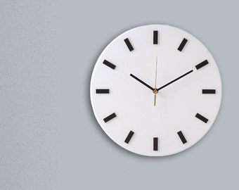 Scandi Clock - wooden clock, simple, white