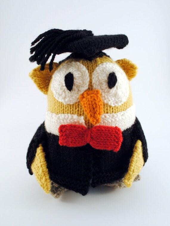 Knitted Owl Doll Graduation Gift handmade Australian Wool