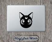 Luna Decal Sailor Moon Cat Sticker For Apple Macbook Laptop Vinyl Luna Sailor Moon Car Window Wall Sticker