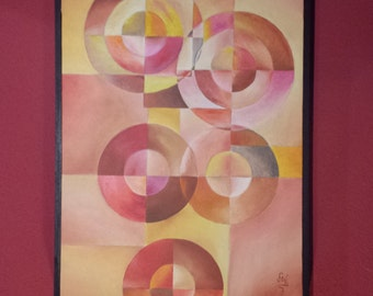 MODERN Art Earth Tones Abstract Painting. ORIGINAL OIL - Artwork by Federico Vivanco - Certificate of Authenticity included.