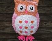 Peachy Pink Owl Pinata - READY TO SHIP
