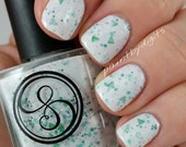 FINAL SALE: Delta Snow white and evergreen crelly nail lacquer