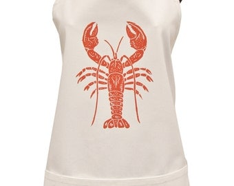 lobster organic cotton full apron