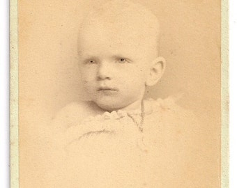 Creepy baby eyes Kemp NJ cdv photo antique oddity