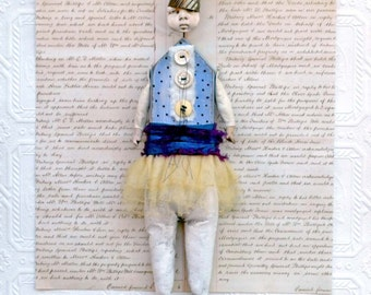 Assemblage Mixed Media Art Doll Jasper