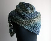 Reserved for Vee - 2 Small Custom Made Hand Knit Shoulder Shawls, Vegan, FREE SHIPPING