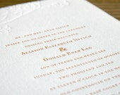 Letterpress Wedding Invitations: 'Fall Branches'  blind embossed (custom printed)