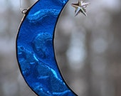 Stained Glass Little Blue Moon
