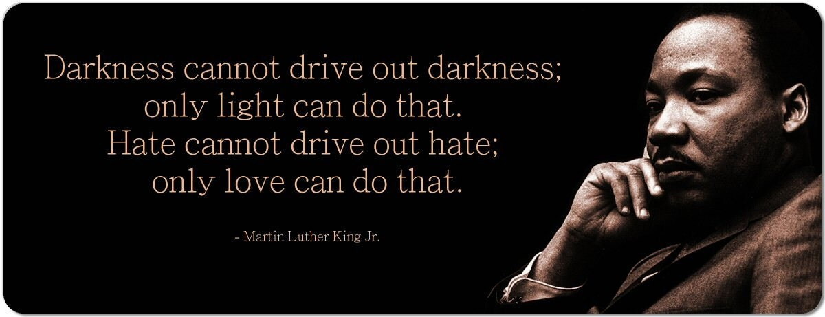 darkness cannot drive out darkness essay