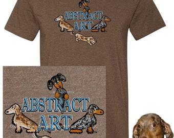 Dapple Dachshund Abstract Art T-Shirt