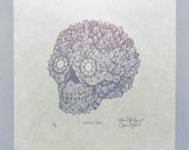 Reserved for Moonbeam--Woodcut Print, Woodblock Print , Crystal Skull by Tugboat Printshop