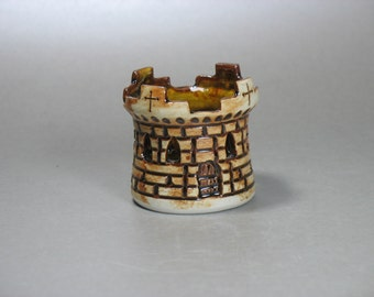 Castle Round Tower Tea Light Votive Holder