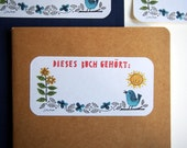 10 Ex Libris/Labels/Bookplates - Landlust - 50x105mm - 100% ECO