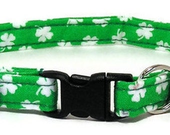 Fancy Cat Collar - Lucky Clover - Breakaway Safety Cute Fancy Cat Kitten Collar
