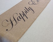 Happily Ever After burlap table runner