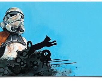 """Sticker- Star Wars Sandtrooper Vinyl Bumper Sticker 7.5"""" x 3.7"""""""