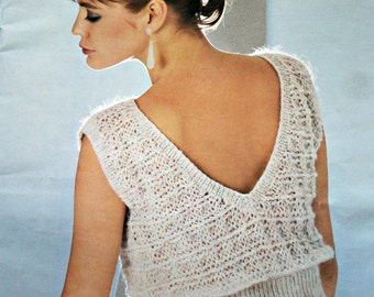 Sweater Knitting Patterns Odpins 2 Fun Fast Fashion Patons 264 Women Vest Vintage Paper Original NOT a PDF