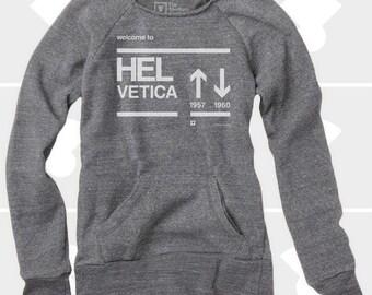 Helvetica - Women's Slouchy Sweatshirt