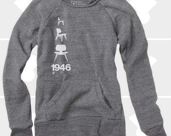 Eames Plywood Chair - Women's Slouchy Sweatshirt