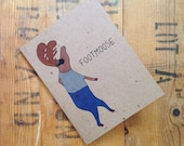 Funny Footmoose greeting cards