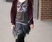 8-10yrs - Zombie Love teen sweater top Rockythezombie Grey Halloween