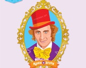 WONKA Inspired Party Large Willy Wonka Portrait 569mm tall - DIY Printable - Customised digital file