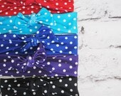 Retro polka dot womens headband wrap to match your swimsuit Choose your color