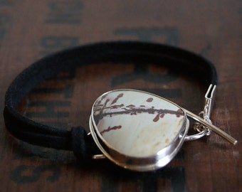 War Paint, a Nature's Paintbrush and Leather cuff bracelet