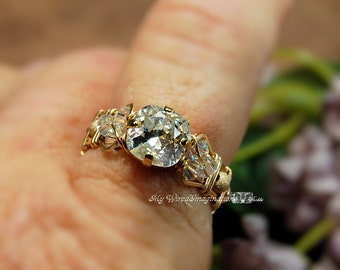 Crystal Diamond, Vintage Swarovski Crystal, Hand Crafted Wire Wrapped Ring, Unique Engagement or Gift, April Birthstone, Made to Order Ring