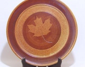 Maple Leaf design Pottery 11 inch Serving Plate and Wall Decor VINTAGE