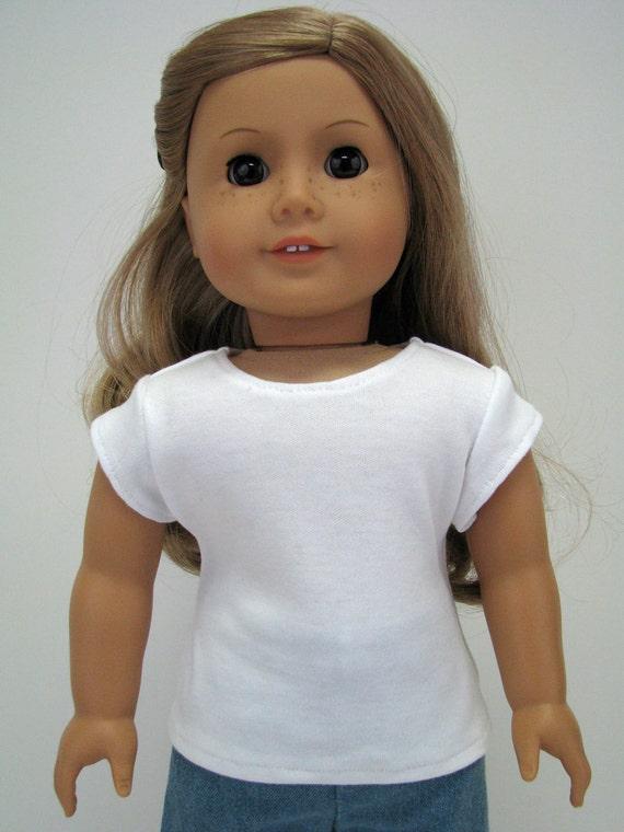 "Girl Doll Clothes - 18 Inch Doll Clothes - 18 Inch Doll T-Shirt - 18"" Doll Top  - Girl Doll Top - A Doll Boutique - American Handmade"