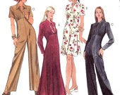 Evening  chic jumpsuit or dress 90s multi size sewing pattern McCalls 8584 Uncut Sz 8 to 12