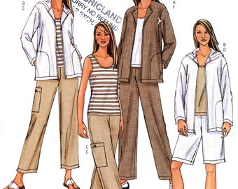 Womens Casual wear for women Jacket top shorts cargo pants sewing pattern Butterick 4141 Sz lg XL Uncut