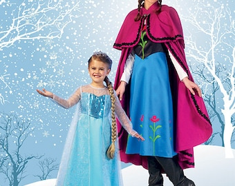 Sewing Pattern-McCall's 7000 Frozen Elsa and Anna Costumes Misses Size ONLY