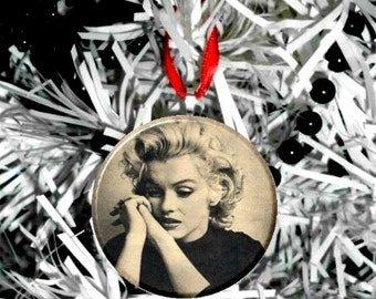 "Marilyn Monroe Black Top 2.25"" Ornament"