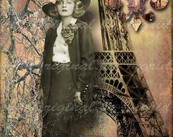 Paris Glamour 5 x 7 Digital Art Print (Suitable for Framing)