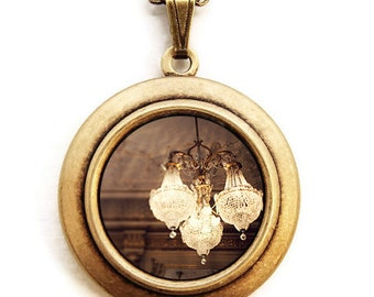 The Golden Age - Glamorous Chandelier Photo Locket Necklace
