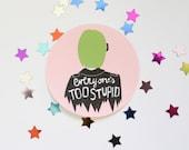 Ghost World Round Sticker Matte Finish