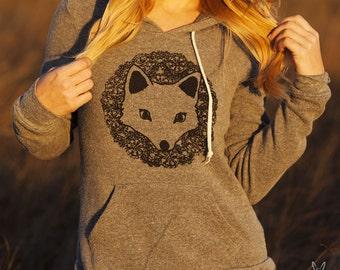 FOX Hoodie Sweatshirt Alternative Apparel Kangaroo Pocket long sleeve sweater