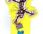 The Itchy & Scratchy Show Bookmark Vintage 90's school supplies The Simpsons