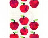 Red Apples by Sandylion Sticker Strip MOC prismatic  NIP
