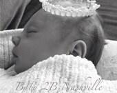 Baby Lace Crown Princess Lace Crown , Baby Crown, Ivory Crown,  Mini Crown