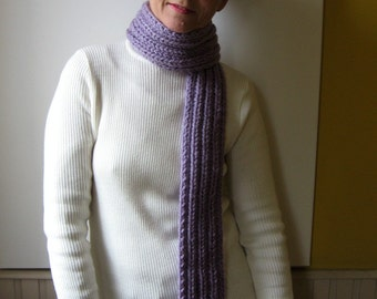 Man Scarf, Wool Scarf Lavender, Chunky Knit Scarf, Long Scarf, Hand Knit Scarf, Womens Scarves, Wrap Scarf, Cute Scarf, Winter Scarf, SALE