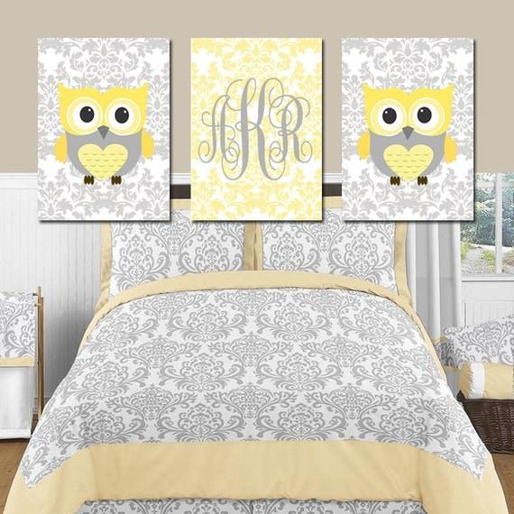 Items Similar To Owl Nursery Wall Art Owl Artwork